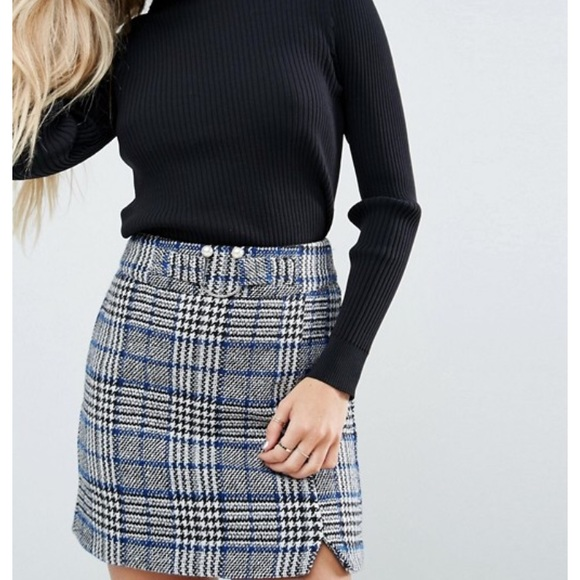 71bbd7eea226 ASOS Skirts | Bnwt Mini Check Skirt | Poshmark